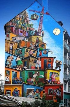 Share your graffiti and Street Art here. Murals Street Art, Street Art Graffiti, Graffiti Murals, 3d Street Art, Mural Art, Street Artists, Graffiti Wallpaper, Graffiti Painting, Wall Art