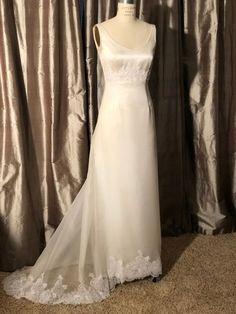 e5aa43d94f1 Ivory Silk Organza Silk Satin Silk Charmeuse Sp1409 Formal Wedding Dress  Size 6 (S) 82% off retail