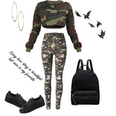 A fashion look from November 2017 featuring cropped sweater, slim fit jeans and black shoes. Browse and shop related looks. Casual Hipster Outfits, Cute Swag Outfits, Cute Comfy Outfits, Punk Outfits, Cute Outfits For School, Chill Outfits, Teen Fashion Outfits, Sporty Outfits, Outfits For Teens