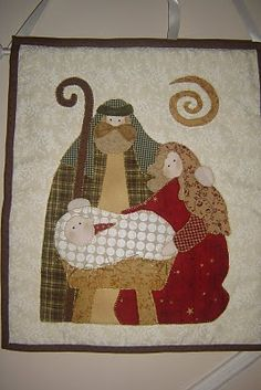 Christmas Nativity, Christmas Art, Christmas Projects, Christmas Stockings, Colchas Quilt, Applique Quilts, Contemporary Christmas Trees, Quilting Stencils, Christmas Applique