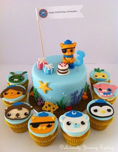 small Octonauts cake