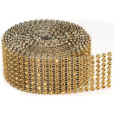 Bling On A Roll 3mm X 2yds 8 Row, Gold, Ribbons & Trim