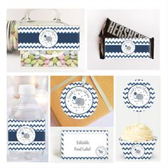 Personalized * Printable Table Set * Party Decor, Toppers, Labels and Wrappers Table Basic Set Includes ---------------------------- - Personalized Cupcake Toppers - Personalized Treat Bag Toppers - Personalized Bottle Wrappers - Personalized Candy Bar Wrappers - Cupcake Wrappers - Blank