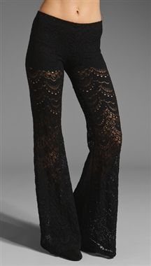Nightcap Clothing Spanish Fan Lace Pant in Blackmust have