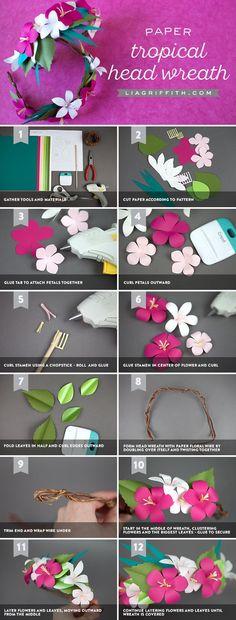 How to Make a Tropical Head Wreath