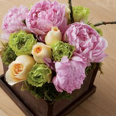 Peony Floral Arrangement-Don't you dare pay that much!  All flowers pictured can be purchased at a wholesale florist!