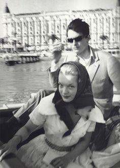 Romy Schneider and Alain Delon in Cannes, Sans m'en faire, je vais t'assurer un enfer.