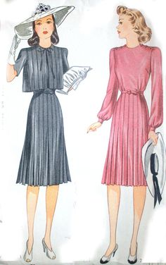 1940s Simplicity Sewing Pattern BOX PLEAT Skirt by HeritageFabrics, $19.00