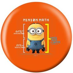 Despicable Me- Minions Math Bowling Ball Bowlersto. Bowling Ball, Despicable Me, Minions, Nerdy, Ballons, How To Apply, Math, Larger, Bling