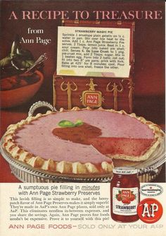 Strawberry Magic Pie recipe from Ann Page  This 1966 recipe is... wait for it... easy as pie.