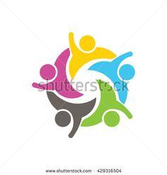 People Social Network Logo. Vector graphic design illustration
