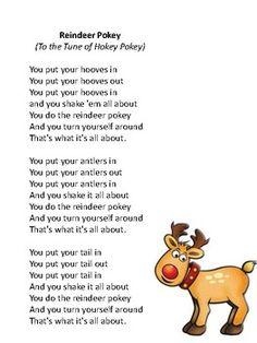 reindeer movement activity to the tune of Hokey Pokey . Preschool Music, Preschool Lesson Plans, Preschool At Home, Preschool Printables, Social Emotional Activities, Gross Motor Activities, Movement Activities, Toddler Activities, Preschool Christmas