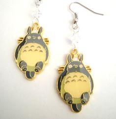 Totoro My Neighbor Totoro Anime Geek Earrings by GeekStarCostuming, $12.00