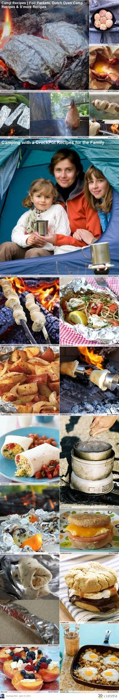 EASY Camping Recipes....I like the pics on the front page