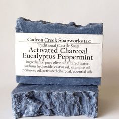 Eucalyptus Peppermint Charcoal Castile by CadronCreekSoapworks