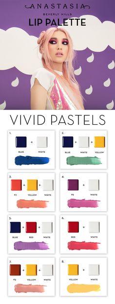 #ABH Lip Palette - Vivid Pastels