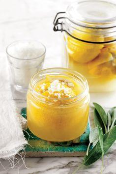 Sóban fürdik a citrom: így tartósítsd a gyümölcsöt, hogy földöntúlian finomak legyenek az ételeid | Nosalty Moscow Mule Mugs, Candle Jars, Tableware, Cilantro, Morocco, Dinnerware, Tablewares, Dishes, Place Settings