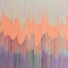 'Joan Saló - Fine Lines' - beautiful colours and blending. similar to ikat - could take drawing inspiration for sketchbook and in weave designs. edges look similar to flowers.
