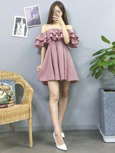 Korean Fashion – How to Dress up Korean Style Korean Fashion Dress, Korean Dress, Korean Street Fashion, Ulzzang Fashion, Korea Fashion, Korean Outfits, Asian Fashion, Fashion Dresses, Korean Fashion Styles