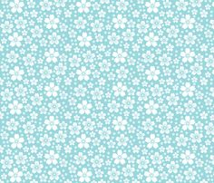 Turquoise Ditsy fabric by christiem on Spoonflower - custom fabric