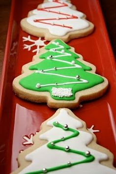Decorated Christmas Sugar Cookies.