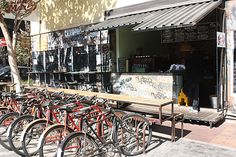 Bicycles for Rent in Maboneng It Gets Better, Best Places To Eat, City Lights, Restaurant Bar, Bicycles, South Africa, The Good Place, Street View, Outdoor Decor