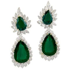 Pretty emerald earrings