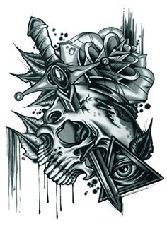 GGSELL Halloween Tattoo for men and women terrible skull with roses and sword temporary tattoo stickers >>> You can find out more details at the link of the image. (This is an affiliate link) #TemporaryTattoos