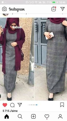 Hijab Style Dress, Casual Hijab Outfit, Hijab Chic, Islamic Fashion, Muslim Fashion, Modest Fashion, Fashion Outfits, Mode Abaya, Hijab Trends