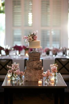 rustic box display to add drama but still have a little cake for just us
