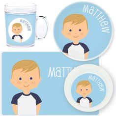 personalized mealtime set | boy