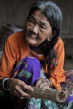 Penan Tribe lady in interior Sarawak Borneo, Malaysia.