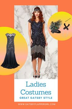Looking for the perfect outfit for your next event? Stunning 1920s Evening Dresses, Flapper Girl Outfits, Great Gatsby Style and many more! Click Here Gatsby Dress Plus Size, Great Gatsby Dresses, Great Gatsby Fashion, Party Outfits For Women, Costumes For Women, Girl Outfits, Flapper Girl Costumes, Gatsby Costume, Gatsby Girl