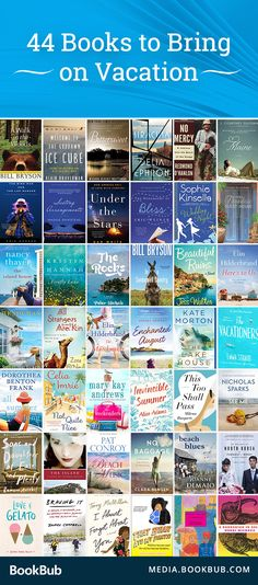 44 must-read books to bring on vacation. From easy beach reads to funny travel logs, these books are sure to keep you entertained all summer long.