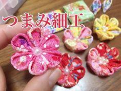 和小物TV手芸  縫わずに簡単 つまみ細工風 折り紙みたいに作る「二重二段花」カチューシャ 簡単コサージュ#048  七五三 成人式 - YouTube