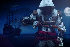"""AC Black Flag Cosplay  It was made by Fotograf-13 and it is a really great idea  """" leaving my ship behind ... just to find the adventures in front of me """"  pic and edit by: https://www.facebook.com/Fotograf13?fref=ts"""