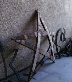 "Wine Barrel Stave ""Star"" Napa Santa Ynez Paso Robles Sourced Materials. $45.00, via Etsy."