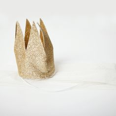 Gold Crown with Veil for that inner princess