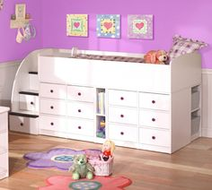 Cheap Berg Kid's Low Profile Captain's Loft Bed w 12 Drawers – Sierra (brg-22-895-XX)