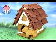 Gingerbread Christmas House for DOGS! My Mum & I make a Ginger Bread Cookie Kennel - YouTube