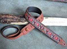 The Original Gypsy Guitar Strap  #guitar #copper #peace #guitarstrap #retro #floral #boho