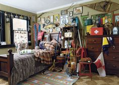 camp bedroom, via FOUND FREE & FLEA / A VERY MODEST COTTAGE