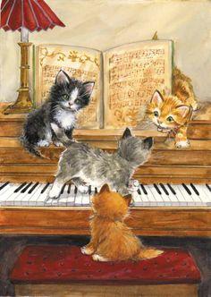 Kitty Keys Notecards