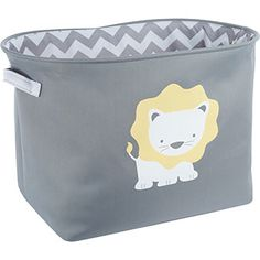 TM Designs Grey Lion Storage Basket
