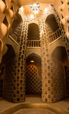 The ghostly, mysterious Kabutar Khaneh pigeon tower in the small town of Meybod, Iran. The last standing pigeon tower in the region, it makes for a great day trip from Yazd.