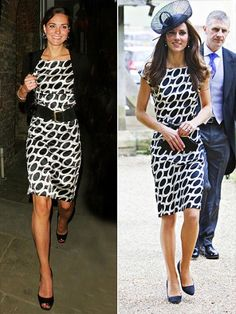 love this black and white dress worn by Kate