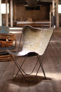 Iron Butterfly Chair - Gray Finish