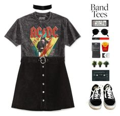 """band t-shirt"" by anabelisstyle ❤ liked on Polyvore featuring Bioworld, Zara, Vans, Ray-Ban, NARS Cosmetics and Topshop"