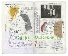 Drawings on a diary | Journal sketchs | memory book