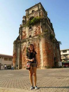 Sinking Bell Tower. #itsmorefuninthephilippines #april2015 Ilocos, Tourist Spots, Notre Dame, Wanderlust, Tower, City, Travel, Rook, Viajes